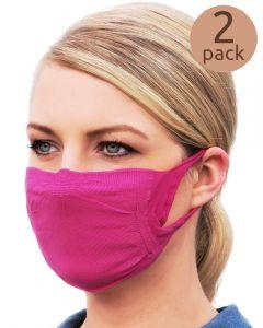 2 herbruikbare mondkapjes met filterpocket en zilverionen