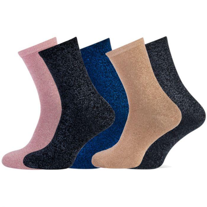 Lurex glitter sokken